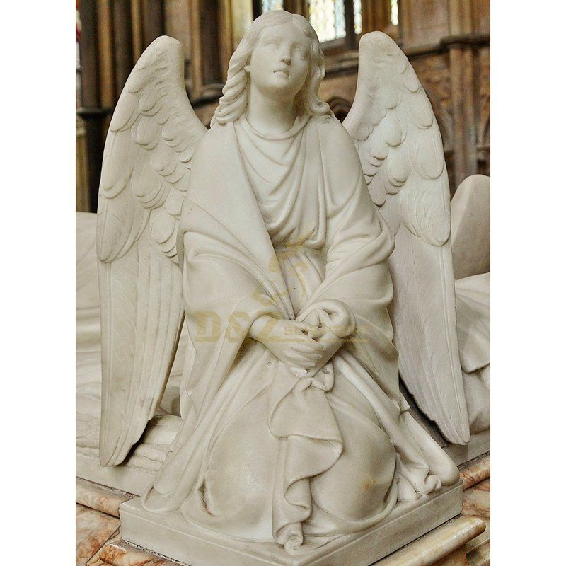 Kneeling Weeping Angel Headstone