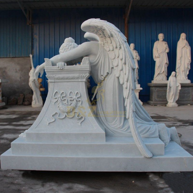 weeping angel headstones for graves