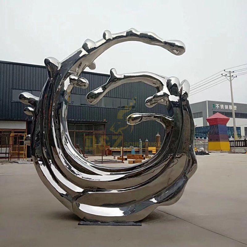 Classic design spray stainless steel sculpture
