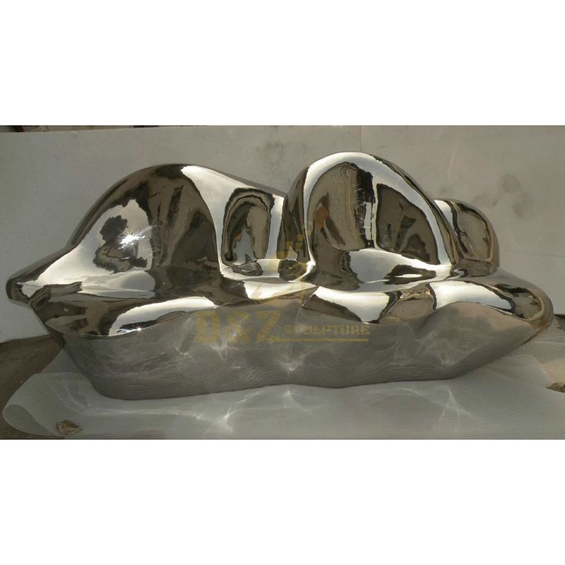 Super Mirror chair Stainless Steel Sculpture