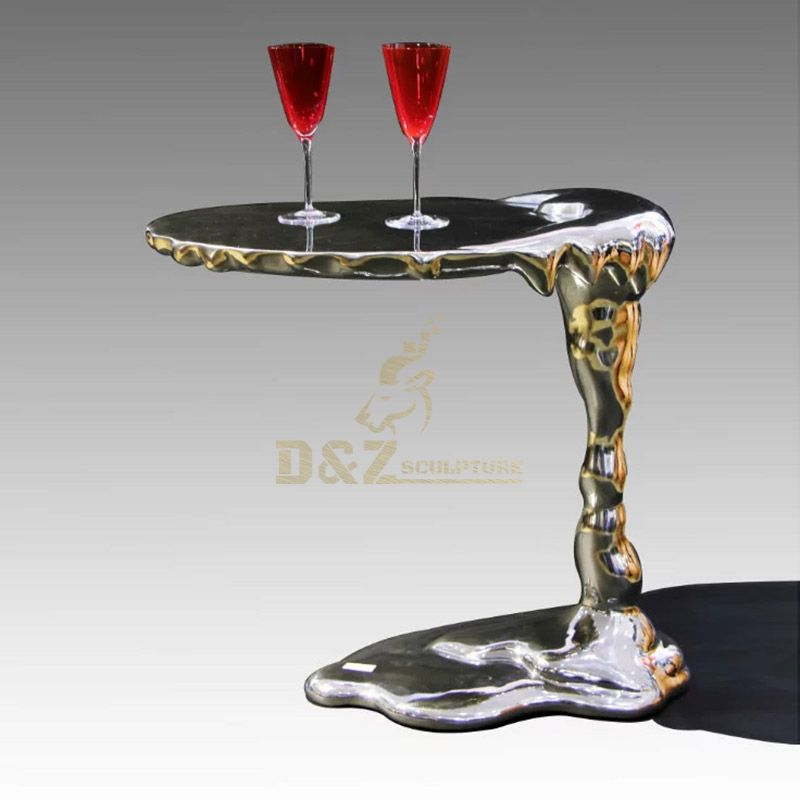 Modern chairs with special design metal sculpture