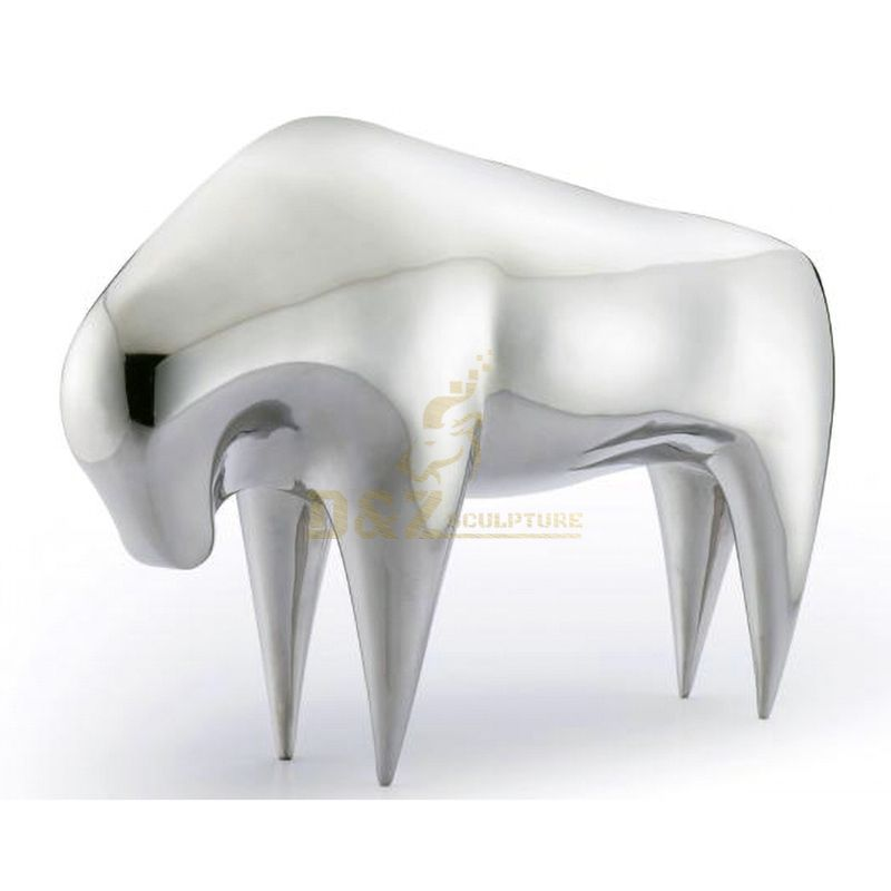 Stainless steel animal furniture chair sculpture