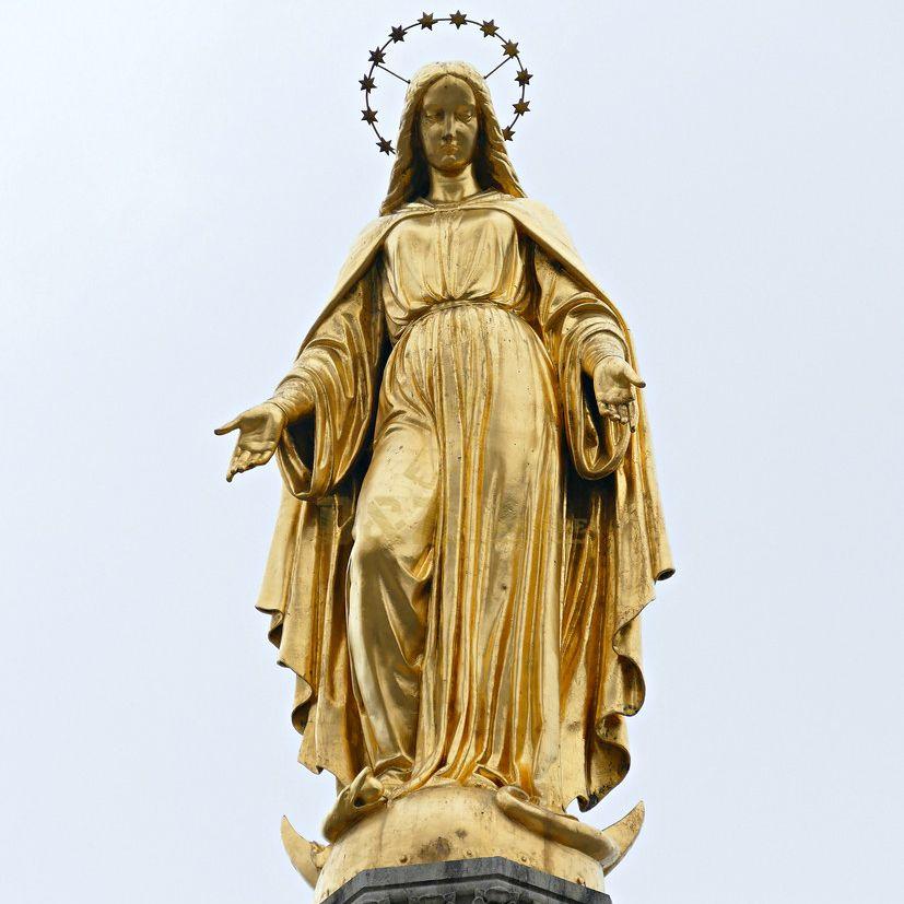 Handmade Outdoor Exquisite Bronze Virgin Mary Statue