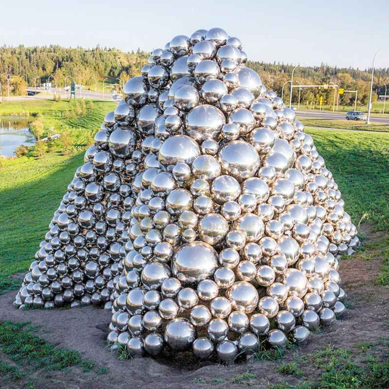 Outdoor Metal Art Stainless Steel Ball Sculpture