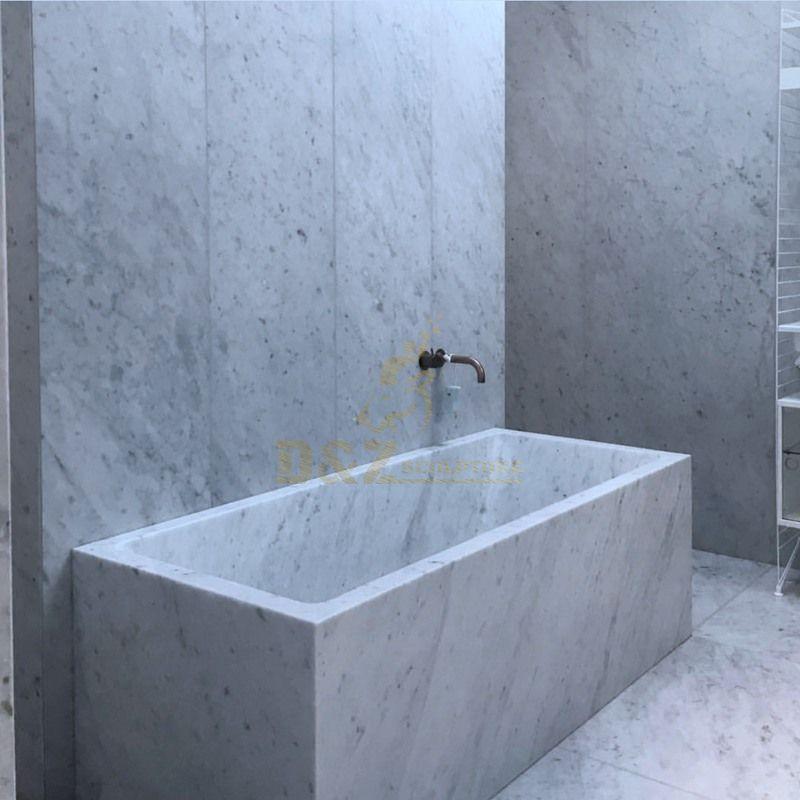 Modern White  Natural Stone Bathtub