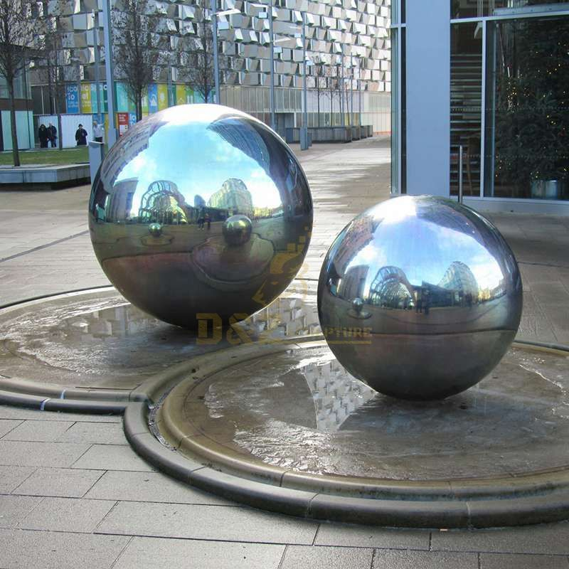 large size ball mirror polished stainless steel sculpture
