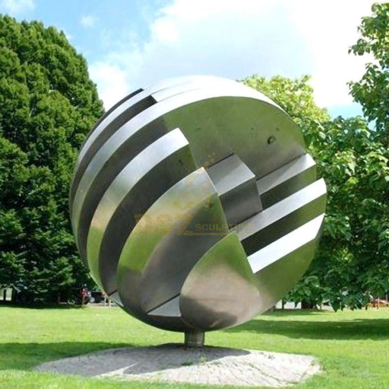 Stainless steel abstract ball city sculpture