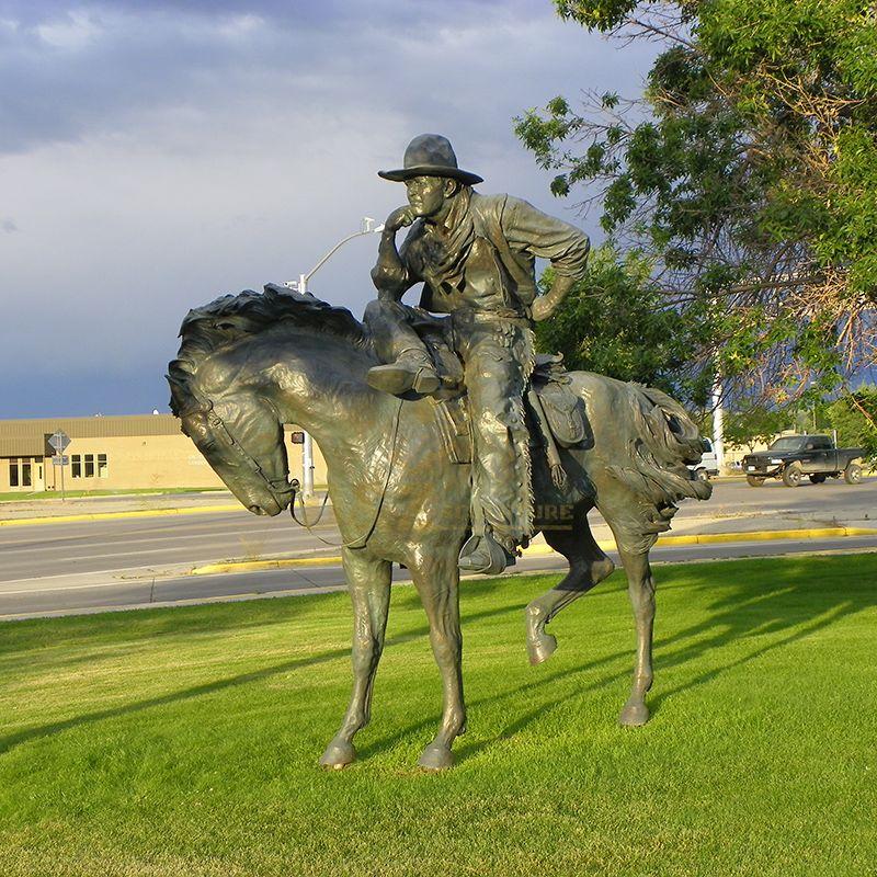 outdoor cowboy statue