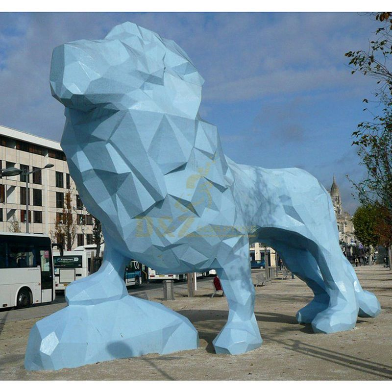 Stainless Steel Lion Sculpture