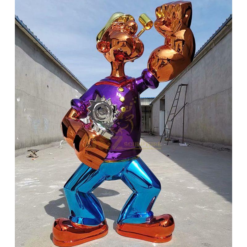 Famous art metal popeye sculpture