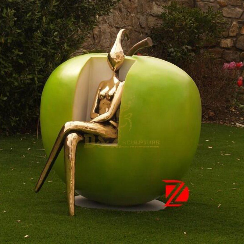 Garden stainless steel colored outdoor decorative sculpture