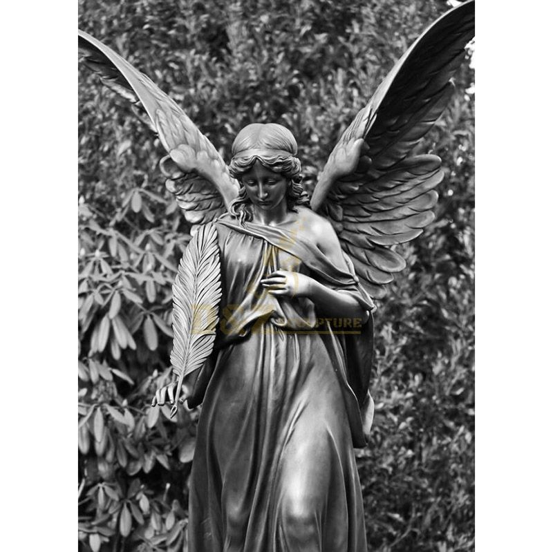 winged sad bronze statues angel
