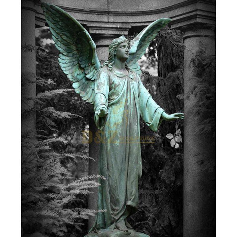 weeping angel bronze statues