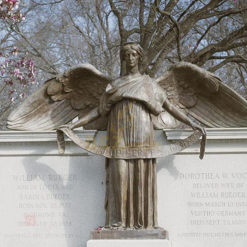 male angel bronze finishing art