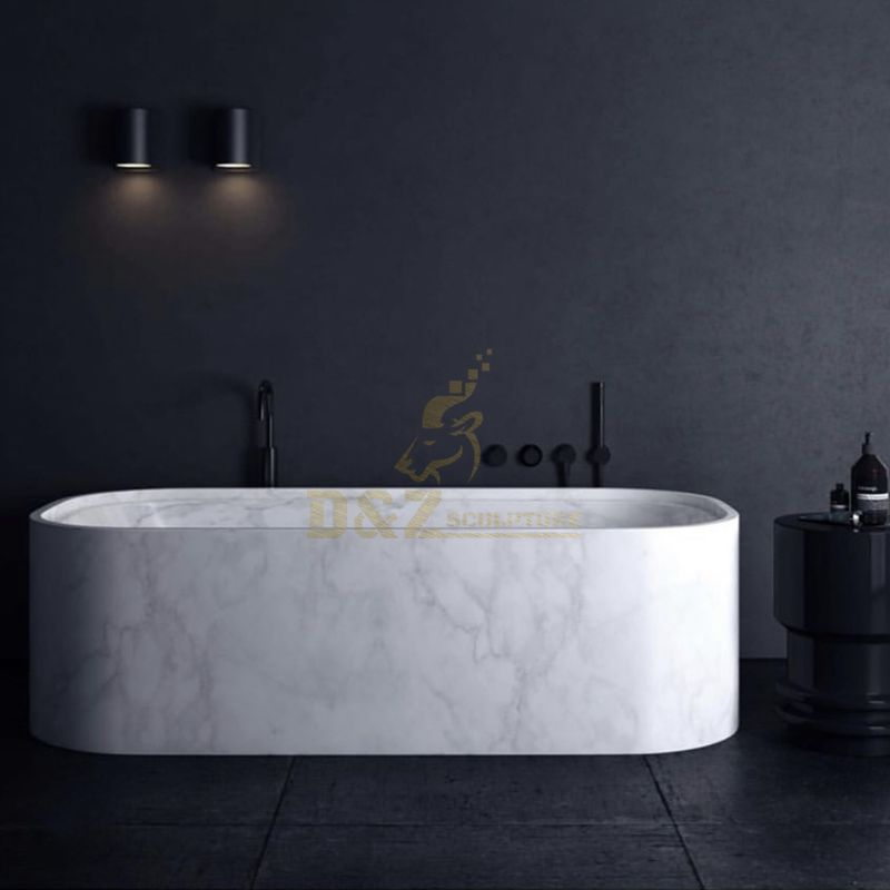 Durable Classical Freestanding Round Stone Bathtub