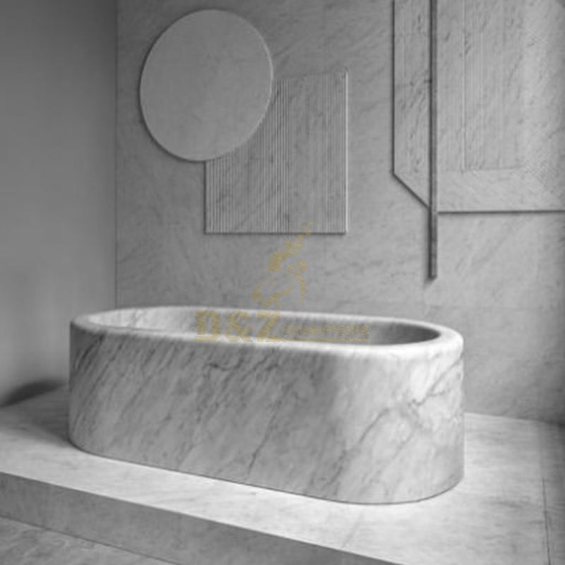 Stone Free Standing Solid Surface Sanitary Ware Bathtubs