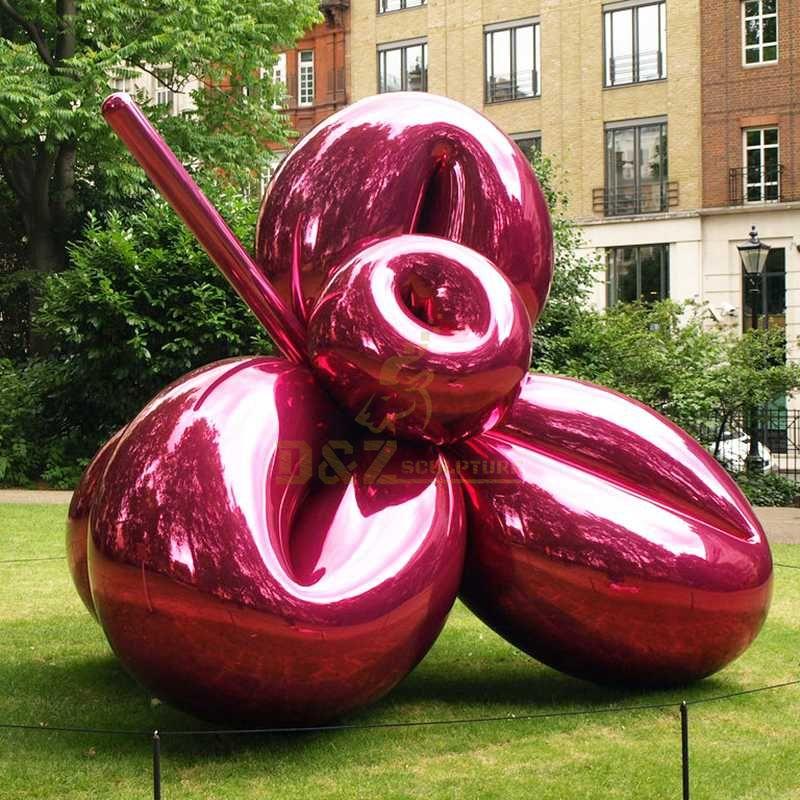red balloon flower sculpture