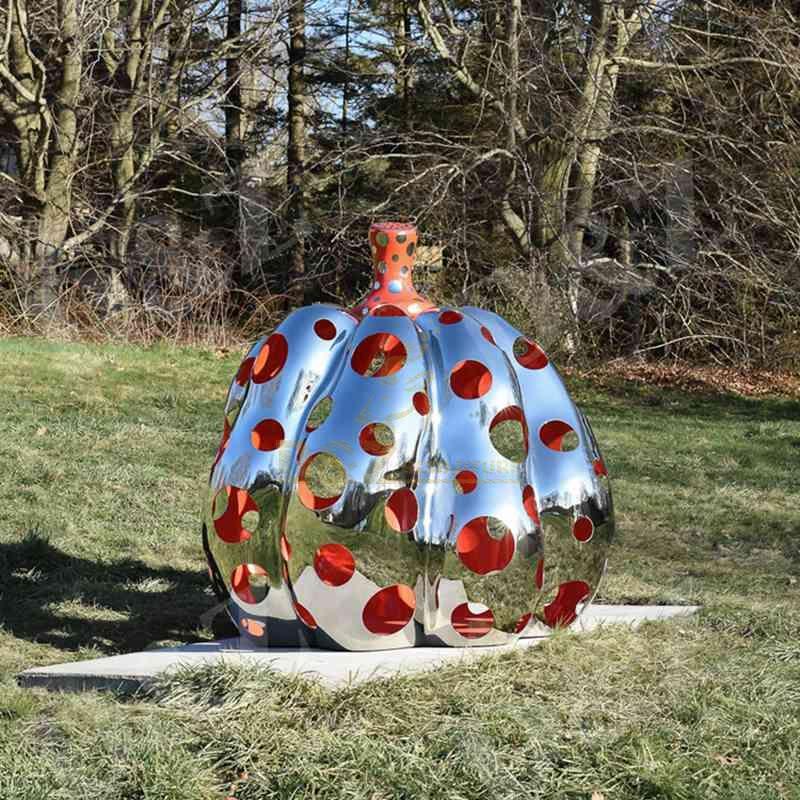 Pumpkin stainless steel modern sculpture