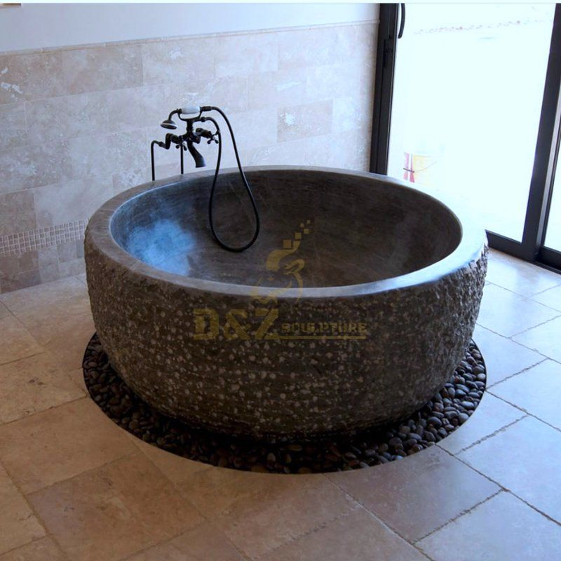 Popular Design Qing Stone Hand Carving Bathtub