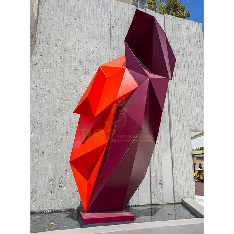 Stainless steel colorful moasic city sculpture