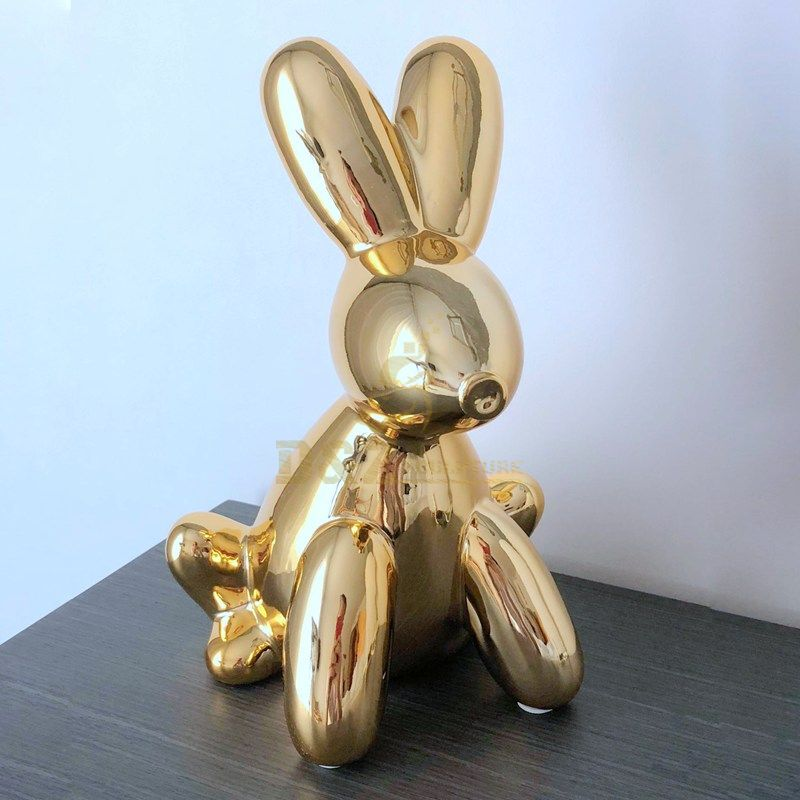 Balloon Rabbit stainless steel sculpture