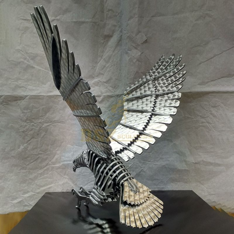 Stainless steel eagle ornament