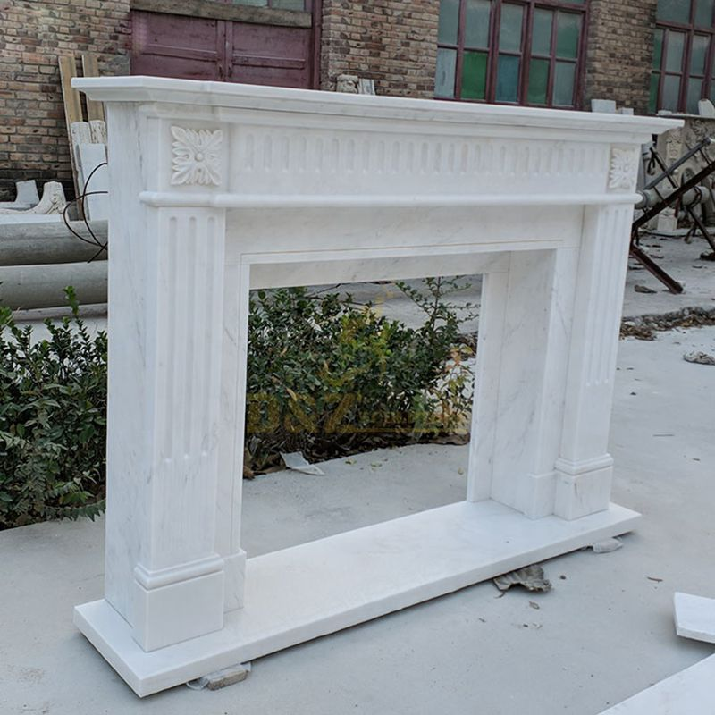New Design Modern Simple Marble Fireplace