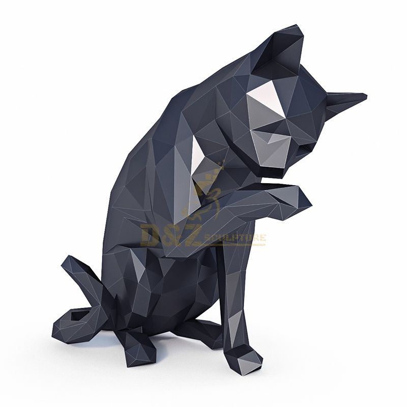 Stainless steel Cute Cat Statue