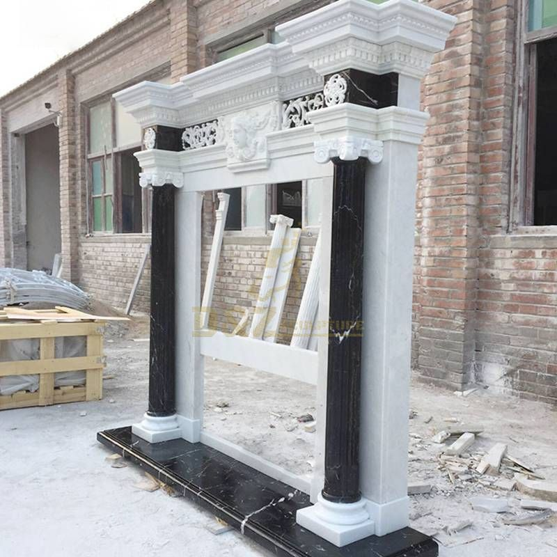 Home Decoration Modern Design Marble Fireplace Surround