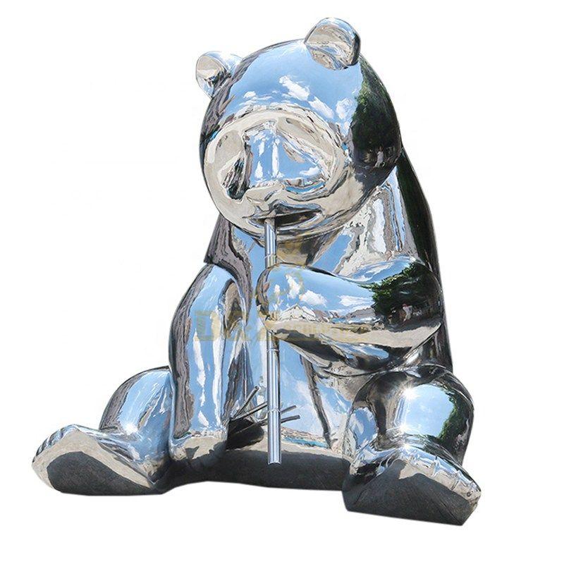 Stainless Steel Panda Animal Statue