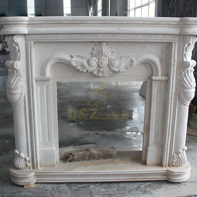 High Quality Luxury White Natural Stone Fireplaces