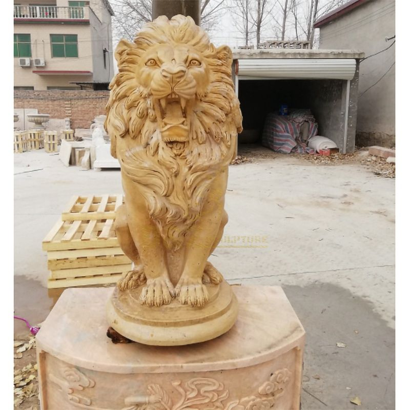 Garden Sculpture Life Size Carved Stone Animals Lion
