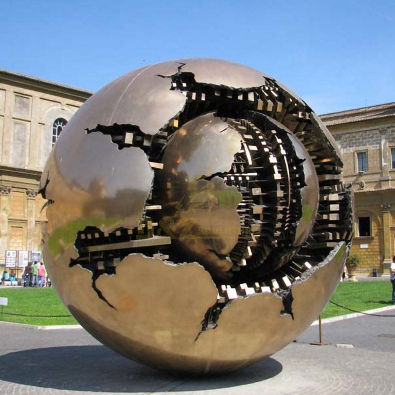 Outdoor Metal Stainless Steel Globe Sculpture for Sale