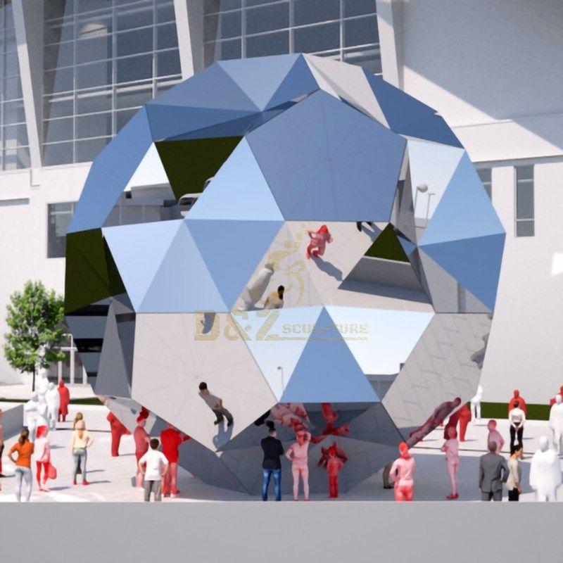 High Polishing City Stainless Steel Ball Sculpture