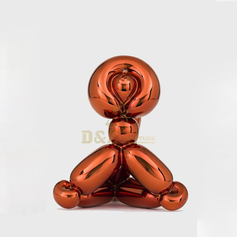 Stainless steel jeff koon balloon monkey sculpture