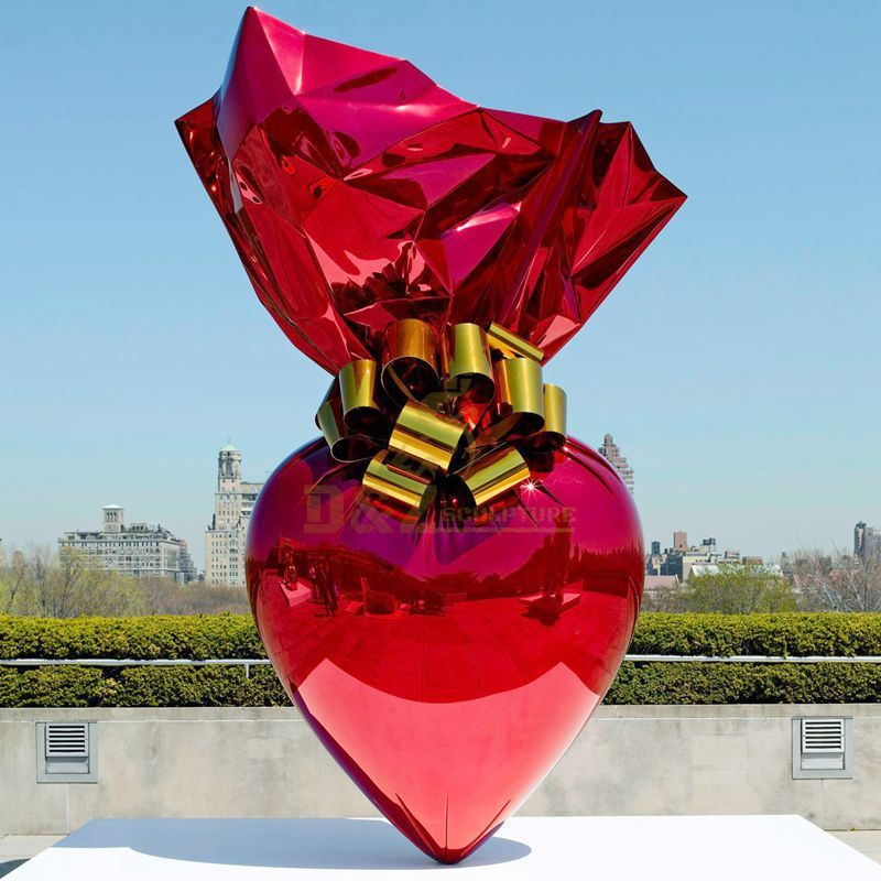 Home Decoration Sculpture Balloon Heart Statue