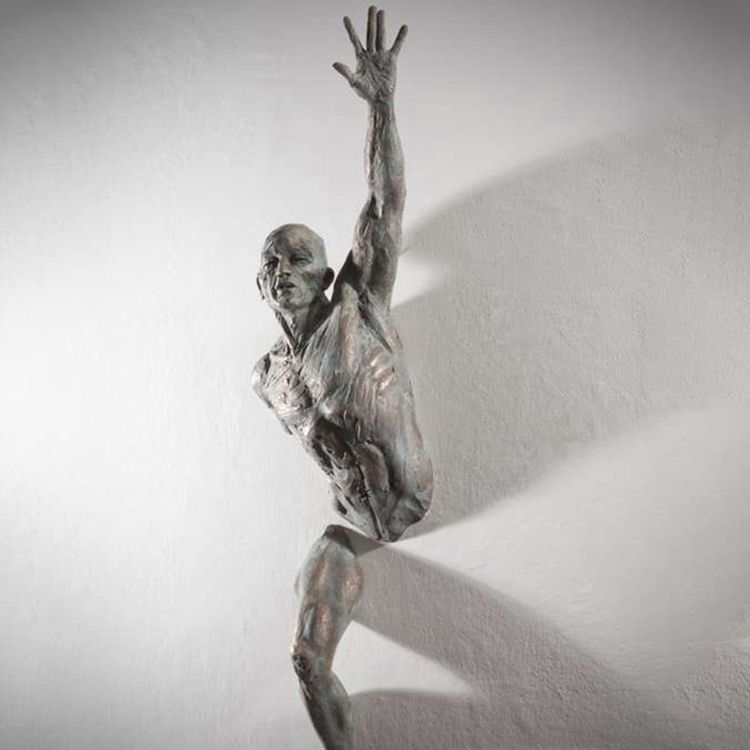 Matteo Pugliese design nude man imbedding wall sculpture