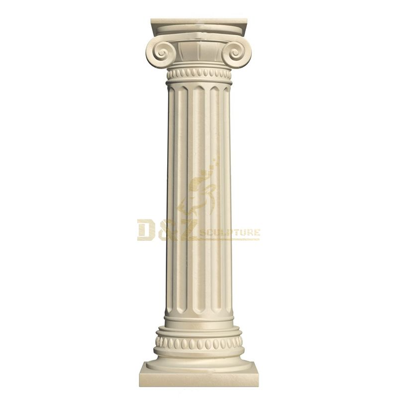 Outdoor Garden Ornaments Marble Roman Pillar