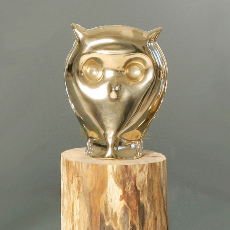 Stainless Steel Animal Statue Giant Owl