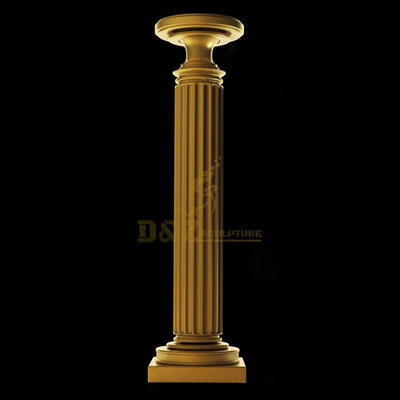 High Quality Carved Beige Marble Roman Column