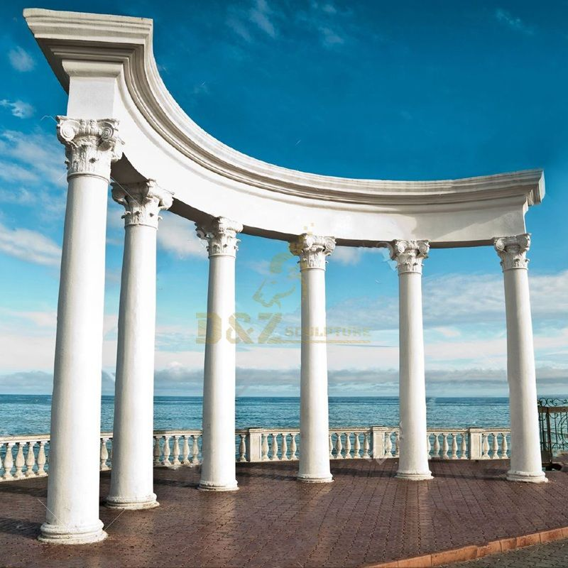 White Roman Solid Marble Columns For Sale