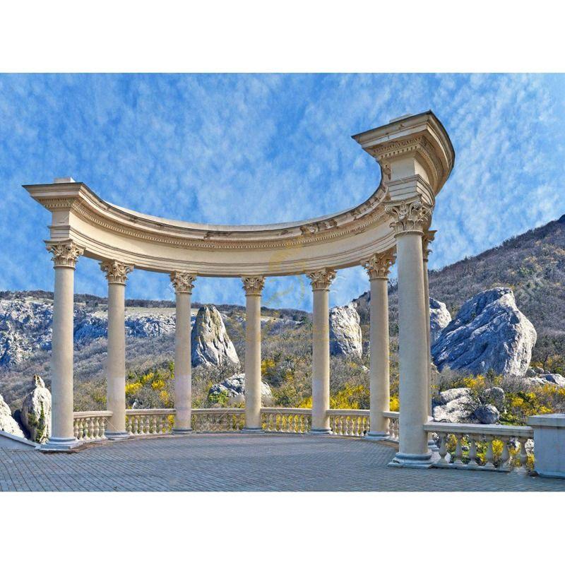 Delicate Building Decoration Corinthian Roman Columns