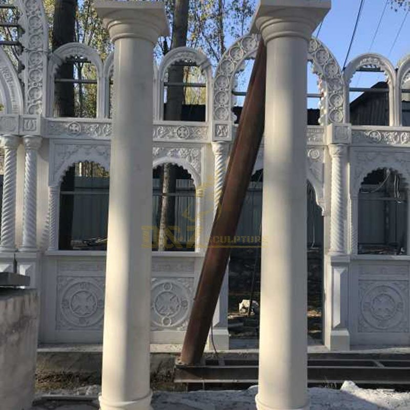 Best Quality Indoor and outdoor Decoration Round Marble Column