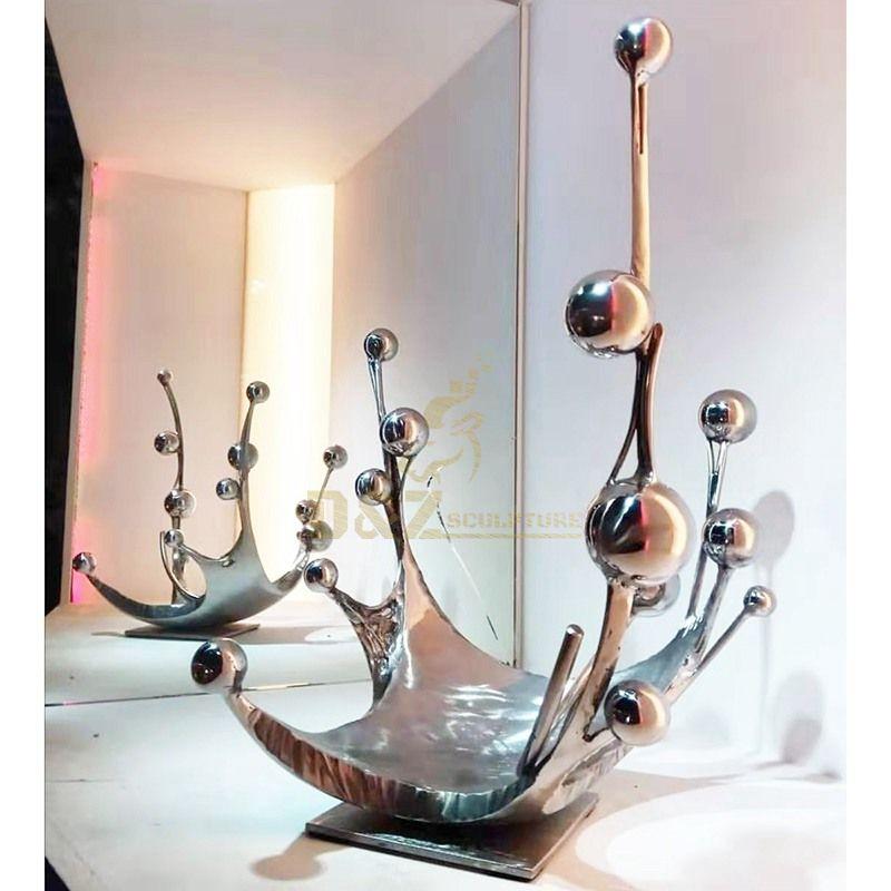 Spray water drop decorative sculpture