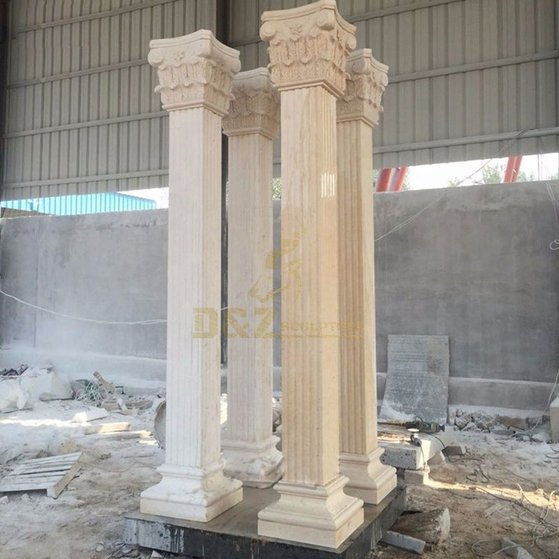 Garden Decorative Natural Stone Column