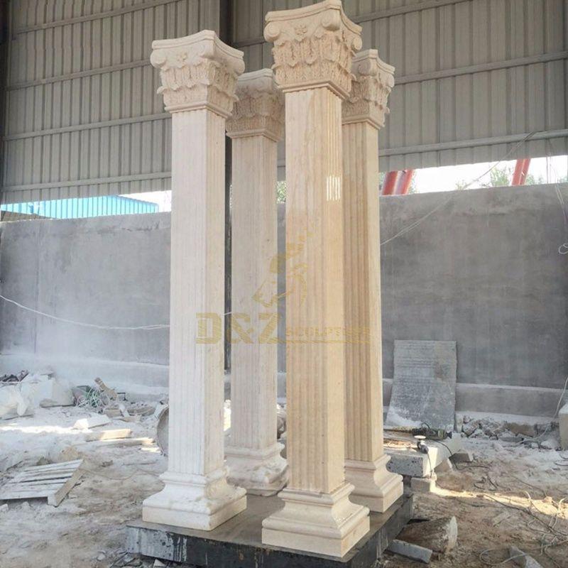 Garden Decorative Natural Stone Column