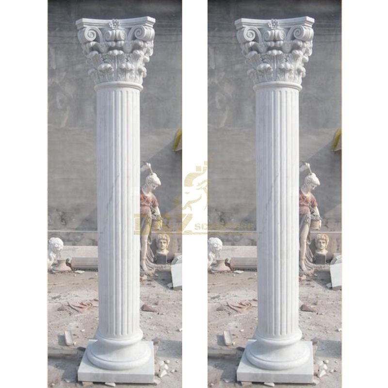 Outdoor Garden Ornament Roman Stone Columns