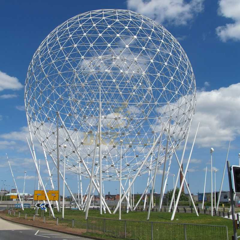 Large size stainless steel ball sculpture