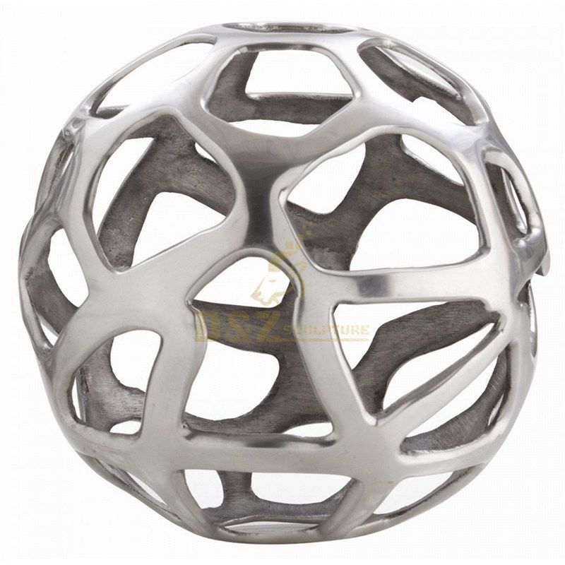 Stainless steel hollow ball sculpture