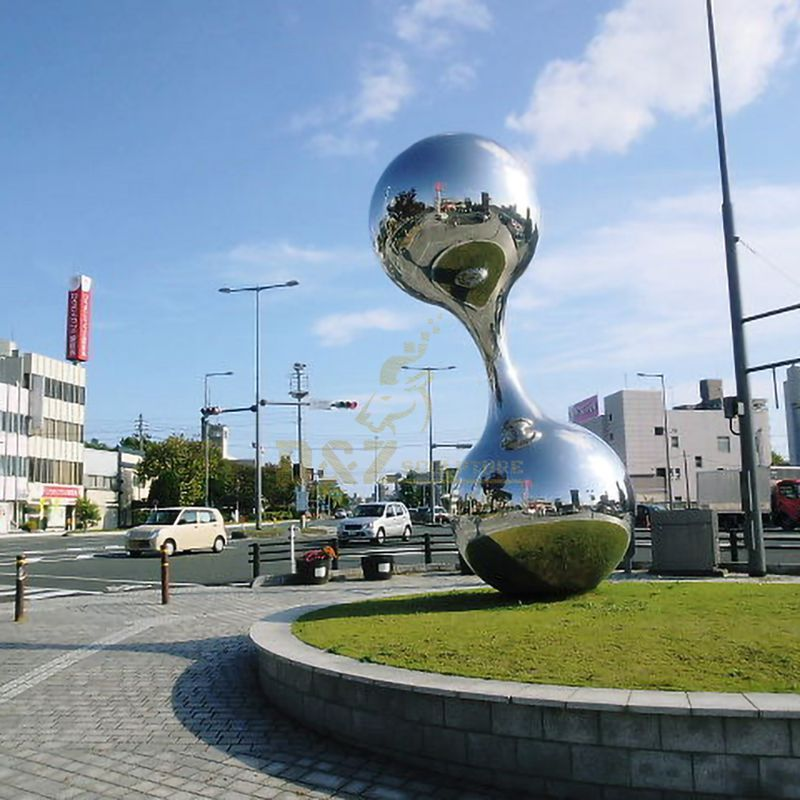 Stainless steel ball metal sculpture